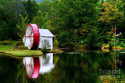 Art Print featuring the photograph Water Mill by Adrian LaRoque