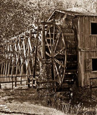 Water Mill In Action Art Print by Douglas Barnett