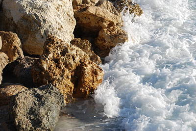 Water On The Rocks Art Print by Carrie Munoz