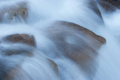 Water Over Rocks Art Print by Maureen Bates