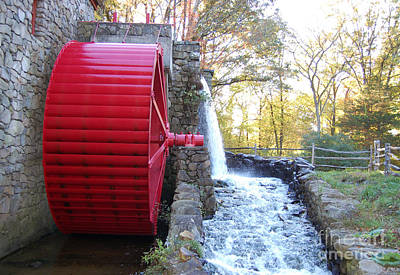 Water Powered Grist Mill Wheel Art Print by John Small