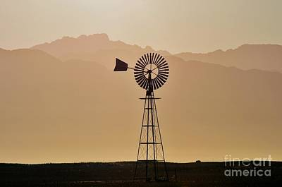 Art Print featuring the photograph Water Pump Windmill by Werner Lehmann