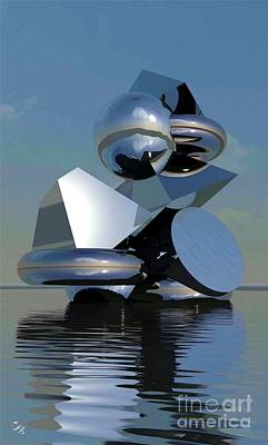 Digital Art - Water Sculpture by Ron Bissett