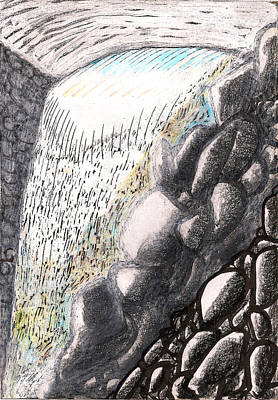Mountain Spring Falls Monterey Ma Original by Al Goldfarb