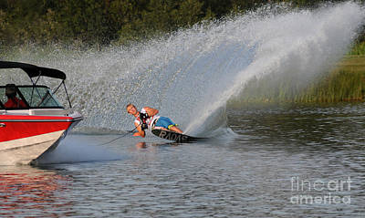 Wakeboard Photograph - Water Skiing 15 by Vivian Christopher