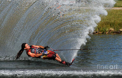 Wakeboard Photograph - Water Skiing 17 by Vivian Christopher