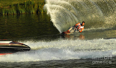 As Art Photograph - Water Skiing Magic Of Water 33 by Bob Christopher