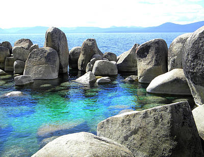 Photograph - Water Stonehenge Lake Tahoe by Frank Wilson