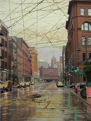 Digital Art - Water Street 3rd Ward And Artboard by Anita Burgermeister