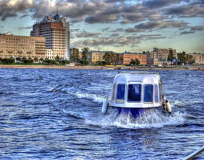 Water Taxi. St Petersburg. Russia Art Print by Juli Scalzi