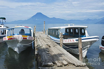 Panajachel Photograph - Water Taxis On Lake Atitlan by Rob Tilley