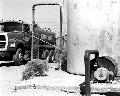 Ashlee Meyer Photograph - Water Tower And Truck by Ashlee Meyer