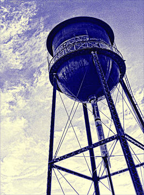 Photograph - Water Tower Blues by Tony Grider