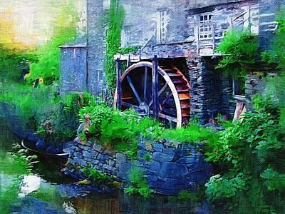 Ambleside Wall Art - Digital Art - Water Wheel by Amanda Moore