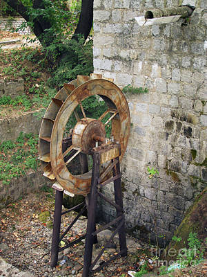Photograph - Water Wheel by Eena Bo