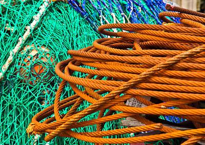 Water Wire Net Art Print by Douglas Barnett