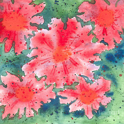 Painting - Watercolor Flowers by Kristen Fox