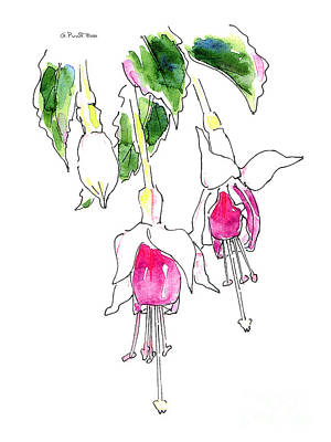 Painting - Watercolor Fuchsia Painting 1 by Gordon Punt