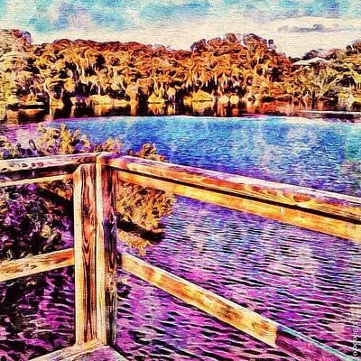 Watercolor Lake - It Would Be Good For Art Print