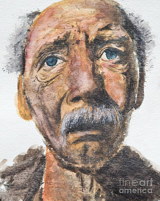 Painting - Watercolor Old Man by Kate Sumners