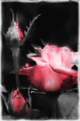 Digital Painting - Watercolor Rose by Michelle Joseph-Long