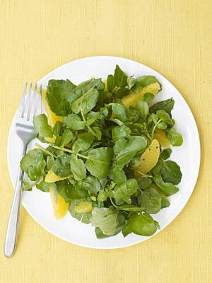 Watercress Photograph - Watercress Orange Salad by James Baigrie