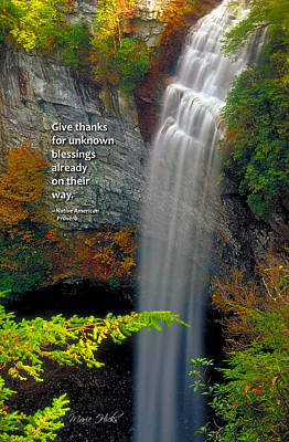 Photograph - Waterfall Blessings by Marie Hicks
