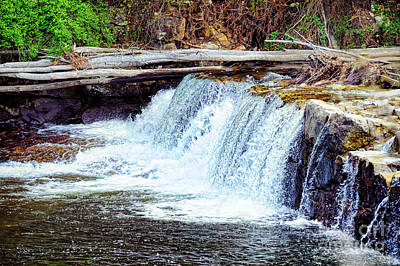 Waterfall Art Print by HD Connelly