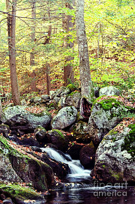 New England Fall Photograph - Waterfall II by HD Connelly