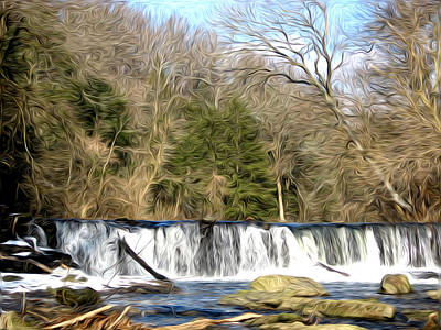 Waterfall In The Woods Art Print by Bill Cannon