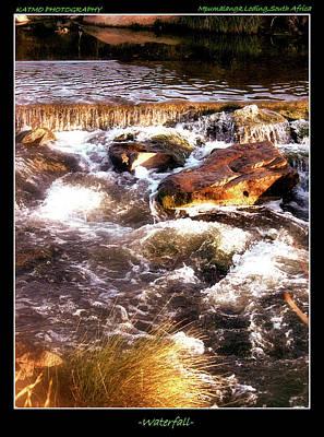 Photograph - Waterfall by Katlego Mokubyane