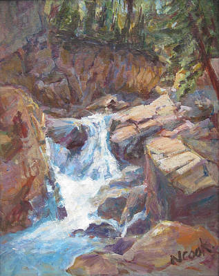 Painting - Waterfall by Nanci Cook