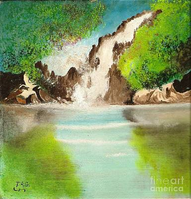 Painting - Waterfall Of Wonder by Jessi and James Gault