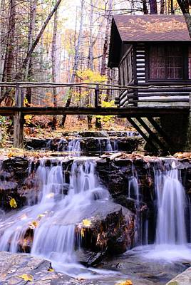 Waterfall On Friends Creek B  Art Print