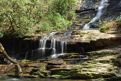 Waterfall Over Rocks Art Print by Carrie Munoz