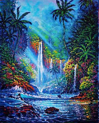 Waterfall  River Of Life Art Print
