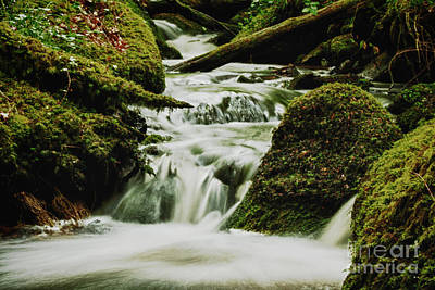 Becky Falls Photograph - Waterfall by Sara Messenger