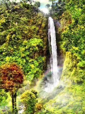 Waterfall Art Print by Vidka Art