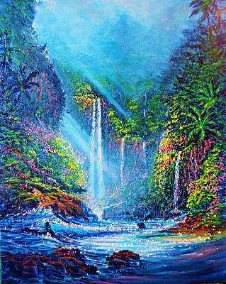 Painting - Waterfall Wip 3 by Joseph   Ruff