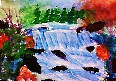 Painting - Waterfalls  by Anna Lewis