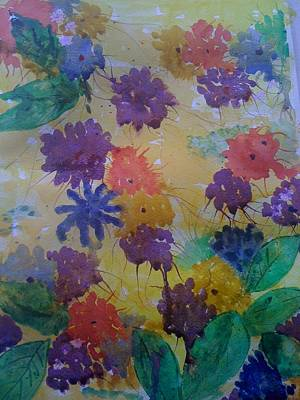Waterflowers Art Print by Judi Goodwin