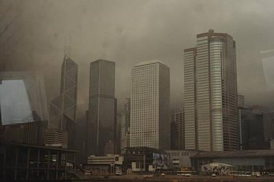 Waterfront Skyline Of Hong Kong Island Art Print