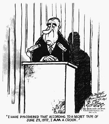 Watergate Scandal, 1974 Art Print