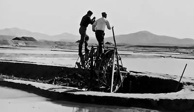 Photograph - Watering The Fields - 1955 by Dale Stillman