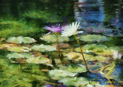 Digital Art - Waterlilies 2 by Fran Woods