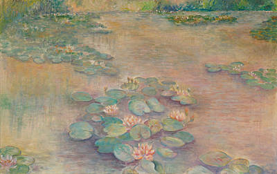 Painting - Waterlilies At Dusk by Rita Bentley