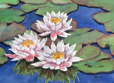Waterlily Wall Art - Painting - Waterlilies by Marsha Elliott