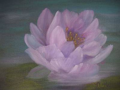 Painting - Waterlily by Natascha de la Court