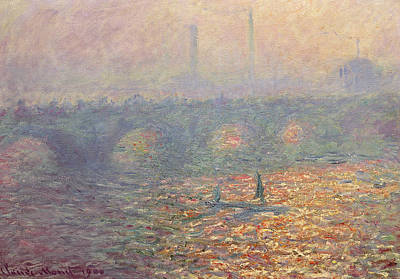 Mist Painting - Waterloo Bridge by Claude Monet