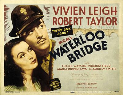 Posth Photograph - Waterloo Bridge, Vivien Leigh, Robert by Everett